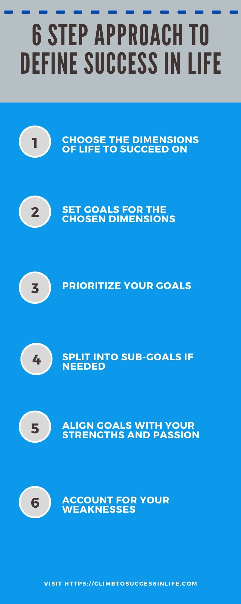 6 steps to define success in life