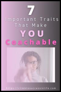 Traits that make you coachable